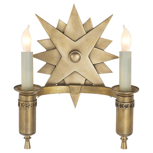 Miguel 2-Light Sconce, Brass