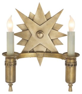 Miguel 2-Light Sconce, Brass - a lovely French country wall sconce lighting option for your Old World or European country style home.