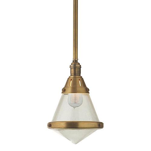 Gale Petite Hanging Light, Brass