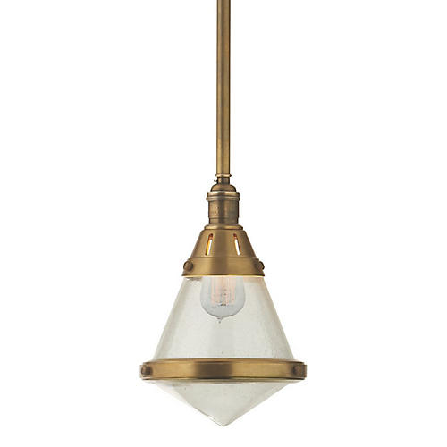 Gale Petite Hanging Light, Brass