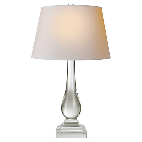 Modern Balustrade Table Lamp, Crystal