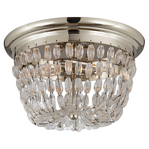 Paris 2-Light Flush Mount, Silver