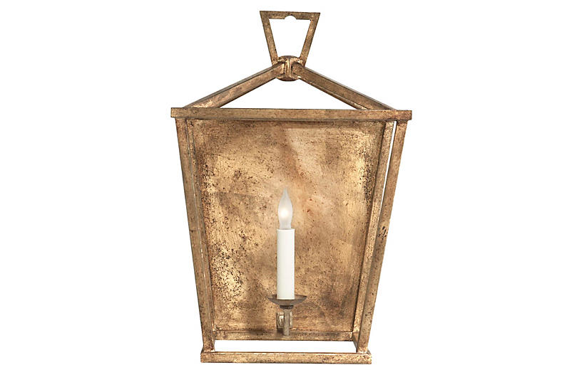 Darlana 3/4 Wall Sconce, Gilded Iron