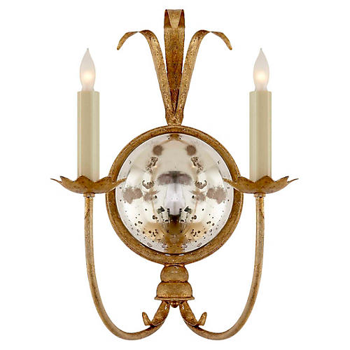 Gramercy Double 2-Light Sconce, Gild