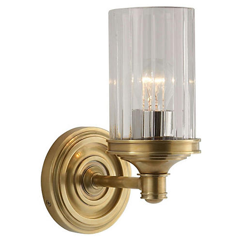 Ava 1-Light Sconce, Antiqued Brass