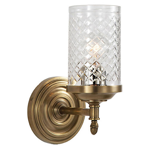 Lita 1-Light Sconce, Antiqued Brass