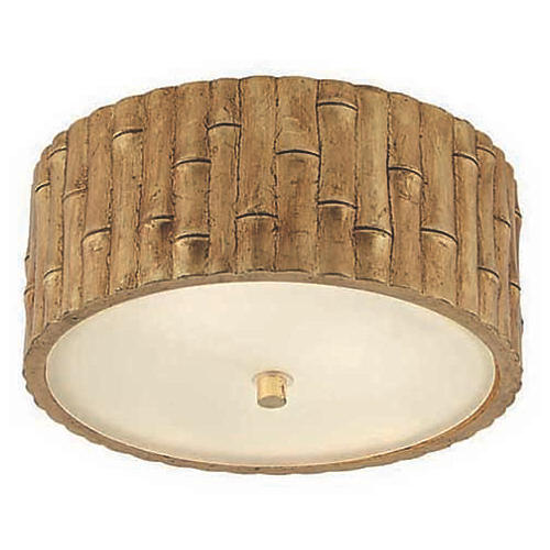 Frank Small Flush Mount, Gold