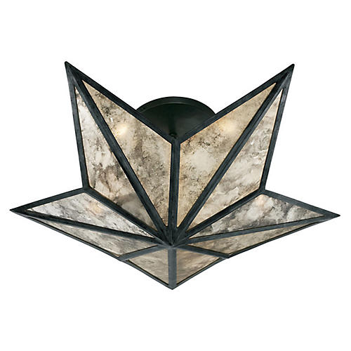 Constellation Small Flush Mount, Bronze