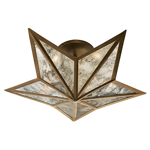 Constellation Small Flush Mount, Brass