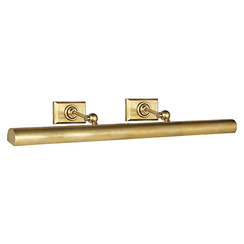 Cabinetmaker Picture Light, Brass