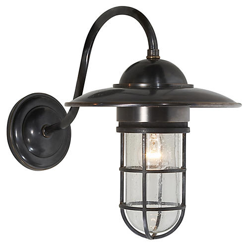 Marine Outdoor Wall Light, Bronze