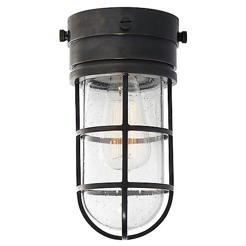 Marine Flush Mount Light, Bronze