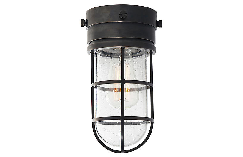 Marine Flush Mount Light - Bronze - Visual Comfort & Co.