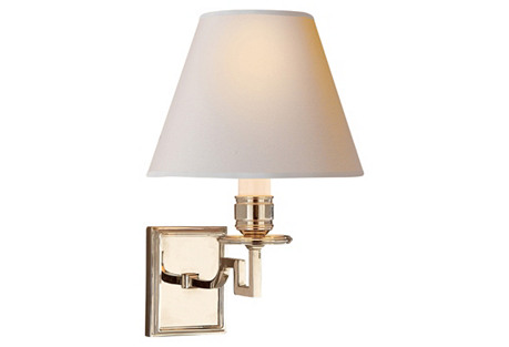 Dean Single-Arm Sconce, Polished Nickel