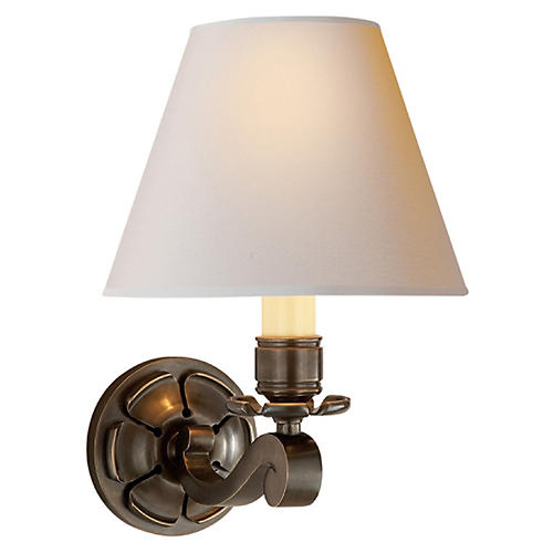 Bing Single Arm Sconce, Gunmetal