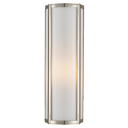 Basil Single Sconce, Nickel