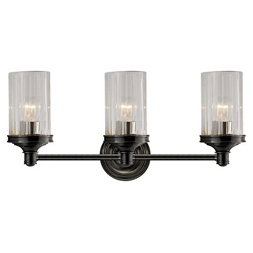 Ava 3-Light Sconce, Bronze