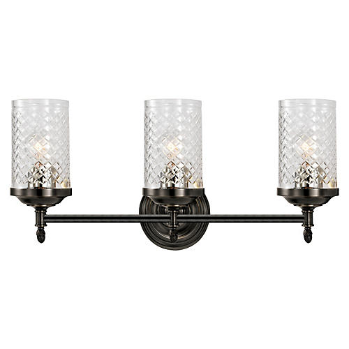 Lita Triple Sconce, Bronze