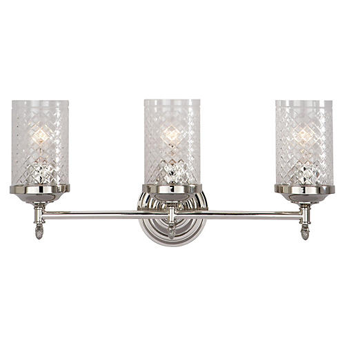 Lita Triple Sconce, Polished Nickel