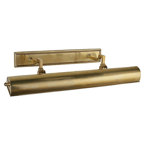"Dean 24"" Picture Light, Natural Brass"
