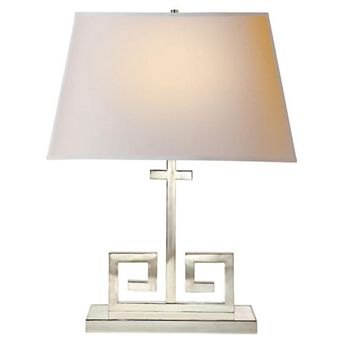 Kate Table Lamp, Polished Nickel