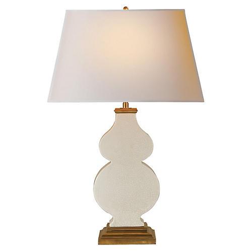 Anita Table Lamp, Tea-Stain Crackle