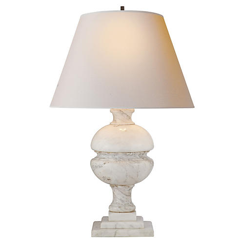 Desmond Table Lamp, White Marble