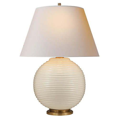 Hugo Table Lamp, Ivory Porcelain