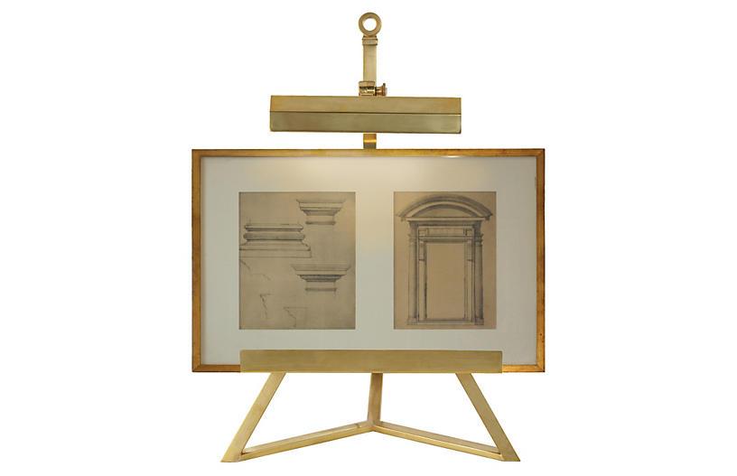 Estelle Display Lamp, Natural Brass