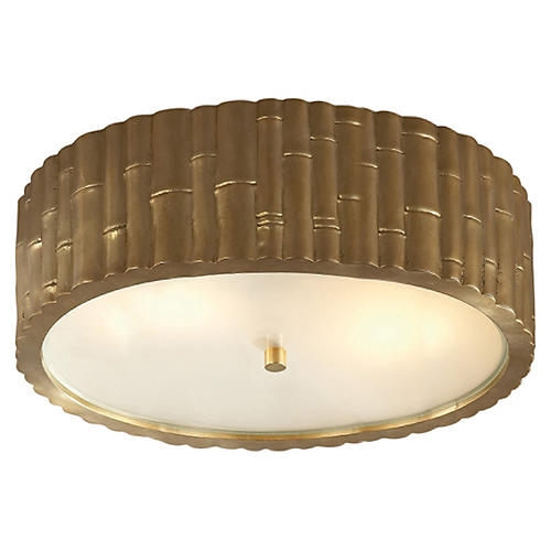 Frank Flush Mount, Natural Brass