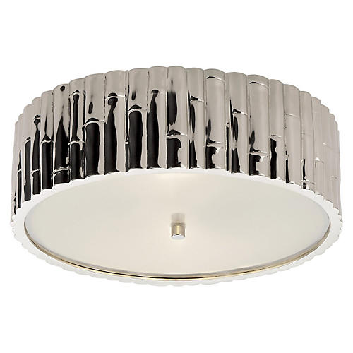 Frank Flush Mount, Polished Nickel