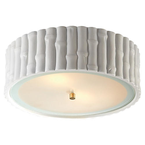 Frank Flush Mount, Plaster White