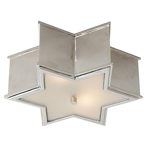 Sophia Flush Mount, Nickel