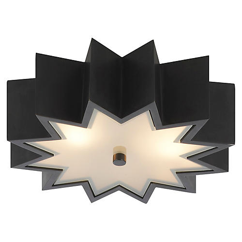 Odette Flush Mount, Gunmetal