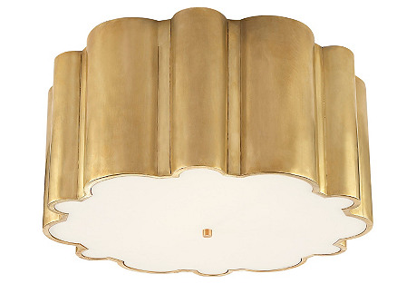 Markos Flush Mount, Natural Brass