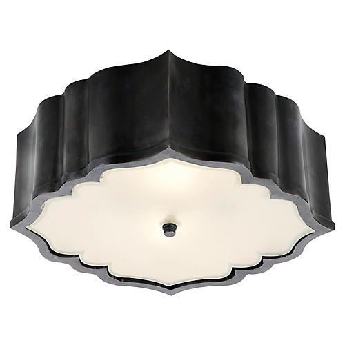 Balthazar Flush Mount, Gunmetal
