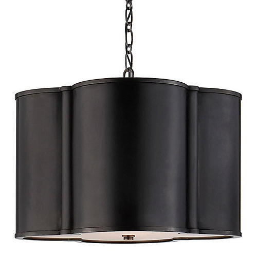 Small Basil Hanging Shade, Gunmetal