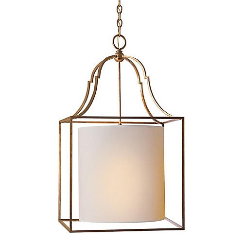 Gustavian Lantern, Gilded Iron