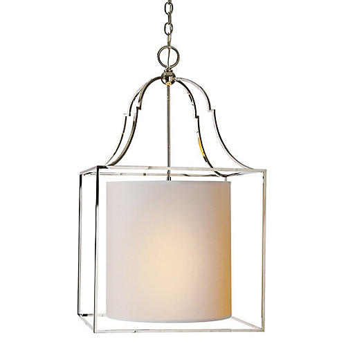Gustavian Lantern, Polished Nickel