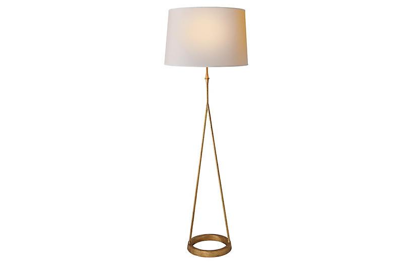 Dauphine Floor Lamp, Gilded Iron