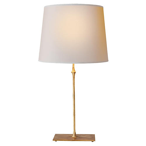 Dauphine Table Lamp, Gilded Iron