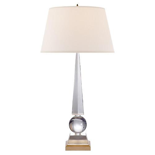 Leigh Table Lamp, Crystal