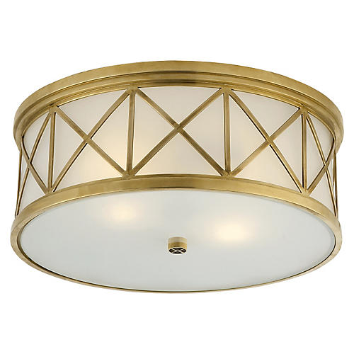 Montpelier Flush Mount, Brass
