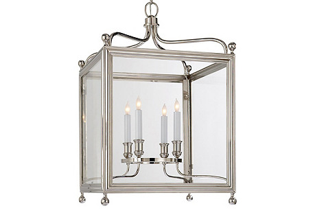 Medium Greggory Lantern, Nickel
