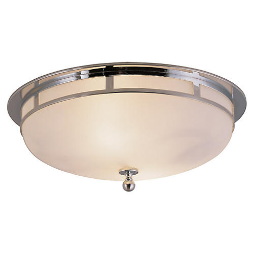 Openwork Flush Mount, Chrome