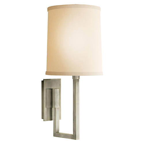 Aspect Library Sconce, Pewter