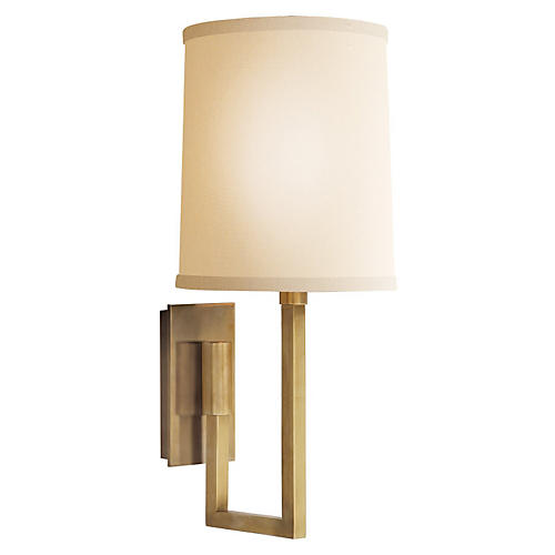 Aspect Library Sconce, Brass