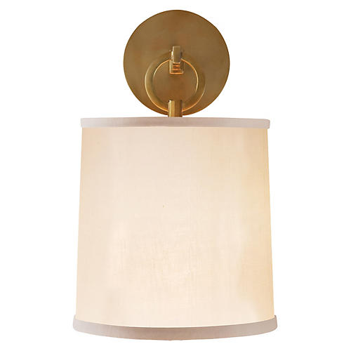 French Cuff Sconce, Soft Brass