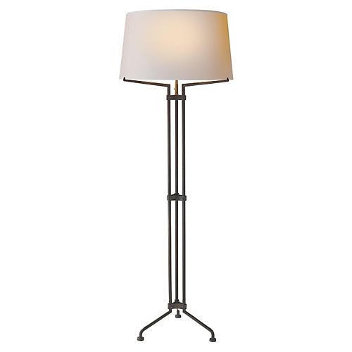 Terrazo Tri-Leg Floor Lamp, Aged Iron