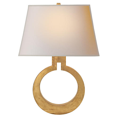 Large Ring Wall Sconce, Gild